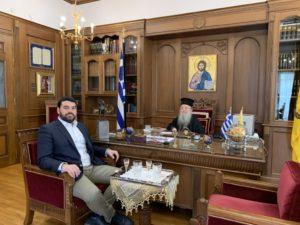 Συνάντηση του Θεσσαλονίκης Ανθίμου με τον πρόεδρο της ΟΝΕΕΔ
