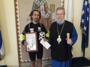 Ο Κύπρου Χρυσόστομος στηρίζει τον αγώνα των καρκινοπαθών
