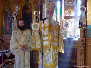 Ο Καστορίας Σεραφείμ στην Ι.Μ. Αγ. Νικολάου Τσιριλόβου