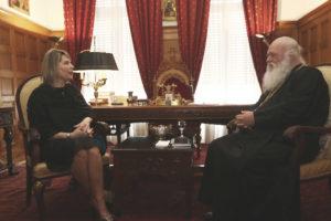 Την Κατερίνα Παπακώστα δέχθηκε ο Αρχιεπίσκοπος (ΦΩΤΟ)