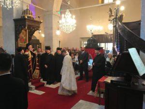 Ο Οικ. Πατριάρχης στον Αγιο Γεώργιο Κυπαρισσά (ΦΩΤΟ)