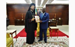 Εικόνα του Αγίου Δημητρίου έλαβε ο Πρωθυπουργός του Κονγκό (ΦΩΤΟ)