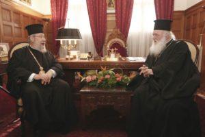 Επί τάπητος το ουκρανικό στη συνάντηση Ιερώνυμου-Χρυσόστομου (ΦΩΤΟ)