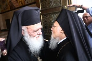Ιστορική συνάντηση του Οικουμενικού Πατριάρχη με τον Αρχιεπίσκοπο Αθηνών (ΦΩΤΟ)