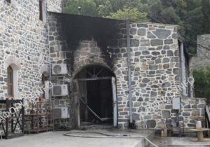 Αγιο Ορος: Ζημιές μετά από φωτιά στην Ι.Μ. Αγίου Παντελεήμονα