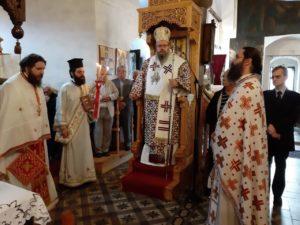 O Λαρίσης Ιερώνυμος στον Ι.Ν. Γενεθλίου της Θεοτόκου στο Γοργογύριο Τρικάλων