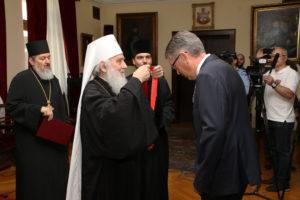 Τον Πρέσβη της Ρωσίας τίμησε ο Σερβίας Ειρηναίος