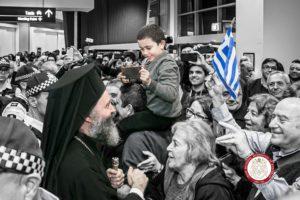 Φωτοστιγμές από την υποδοχή του Αρχιεπισκόπου Μακαρίου
