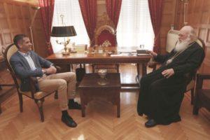 Αρχιεπίσκοπος και Μπακογιάννης συμφώνησαν για στενή συνεργασία (ΦΩΤΟ)
