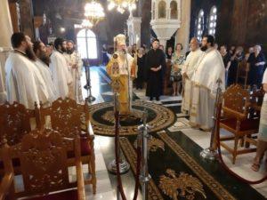 Η μνήμη του Αγίου Μεθοδίου στη Μητρόπολη Χαλκίδος