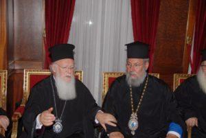 Ο Πατριάρχης Βαρθολομαίος και η Εκκλησία της Κύπρου
