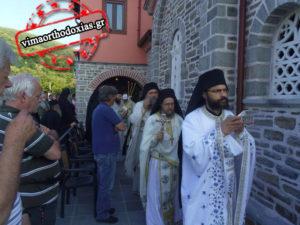 Με βυζαντινή μεγαλοπρέπεια τα εγκαίνια του νέου ναού του Αγίου Μηνά στις Καρυές