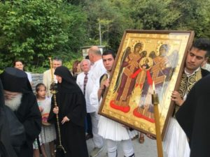 ΠΗΛΙΟ : Ιερά Εικόνα των Παμμεγίστων Ταξιαρχών κόμισε ο γ. Εφραίμ