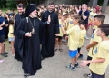 LITCHFIELD, Conn. – His Eminence Archbishop Elpidophoros of America was received with much enthusiasm, joy and love as he made his first visit today July 11, 2019, to Camp Saint Paul, the Direct Archdiocesan District's youth camp located in Connecticut's scenic Berkshire Mountain.rrPhotos: GOA/D.PanagosrrPress Office: Stavros Papagermanos pressoffice@goarch.org