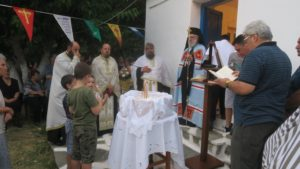 ΑΝΔΡΟΣ: Ο Σύρου Δωρόθεος στο Παρεκκλήσιο της Αγίας Μαρίνης