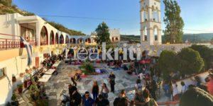 ΑΓΙΑ ΜΑΡΙΝΑ : Κοσμοσυρροή στο Μοναστήρι στη Βόνη (ΦΩΤΟ)