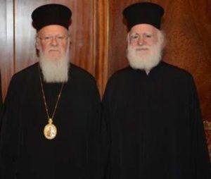 Ο Αρχιεπίσκοπος Κρήτης στον Πατριάρχη Βαρθολομαίο