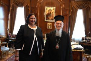 Στον Οικ. Πατριάρχη η νέα Γενική Πρόξενος των ΗΠΑ στην Κωνσταντινούπολη