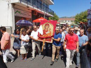Ι.Μ.Τρίκκης: Πλήθος πιστών στη περιφορά της εικόνας της Παναγίας Οδηγήτριας