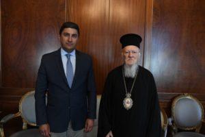 Συνάντηση Βαρθολομαίου με τον υφυπουργό Αθλητισμού (ΦΩΤΟ)