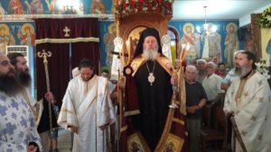 Ο Επίσκοπος Κερνίτσης στον Ιερό Ναό Αγίου Κοσμά Αιτωλού Καμινίων Πατρών
