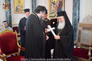 Ο Σερρών Θεολόγος στον Πατριάρχη Ιεροσολύμων (ΦΩΤΟ)