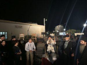 Ο Αγιασμός της πλατείας Μικρασιατών από τον Ιεραπύτνης Κύριλλο (ΦΩΤΟ)