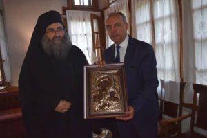 Στη Μονή Ιβήρων για την Κοίμηση της Θεοτόκου ο υφυπουργός Μακεδονίας-Θράκης (ΦΩΤΟ)