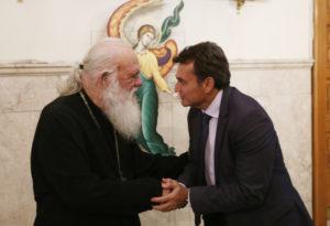Στον Αρχιεπίσκοπο ο δήμαρχος Φιλοθέης και Γεν. Γραμμ. Υπ. Παιδείας