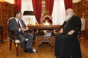 Συνάντηση του Αρχιεπισκόπου με τον υπουργό Τουρισμού (ΦΩΤΟ)