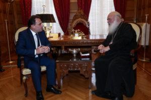 Με Γεωργαντά και Κεδίκογλου συναντήθηκε ο Αρχιεπίσκοπος (ΦΩΤΟ)