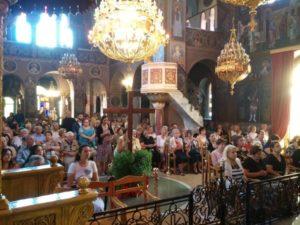Η Ύψωση του Τιμίου Σταυρού στον Ι.Ν. Αγίας Φωτεινής Υμηττού