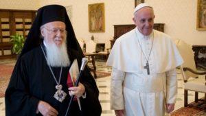 Επιστολή Πάπα Φραγκίσκου προς Βαρθολομαίο: «Οι αποκλίσεις μας δεν θα παρακωλύσουν την αποστολή μας»