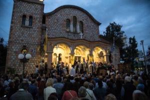 Μεθέορτος Εσπερινός και Λιτάνευση Ιεράς Εικόνας Αγίου Ευσταθίου στη Ν. Ιωνία