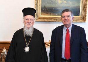 Στον Οικουμενικό Πατριάρχη ο νέος Πολιτικός Διοικητής του Αγίου Ορους (ΦΩΤΟ)