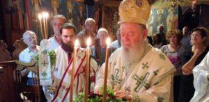 Ο Χαλκίδος Χρυσόστομος σε Αγρυπνία για την Εορτή του Σταυρού (ΦΩΤΟ)