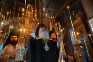 Τρίκαλα : Λαμπρός εορτασμός για τον Άγιο Βησσαρίωνα στο μοναστήρι του στο Δούσικο με 3 Ιεράρχες