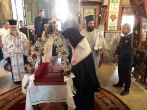 Υποδοχή Ιερού Λειψάνου Αγίου Νεκταρίου στην Πάλαιρο Αιτωλοακαρνανίας