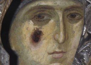ΠΑΝΑΓΙΑ ΕΣΦΑΓΜΕΝΗ :  Μία από τος θαυματουργές εικόνες της Μονής Βατοπαιδίου
