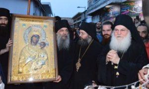 Αντίγραφο της Παναγίας Βηματάρισσας από τη Μονή Βατοπαιδίου στη Μητρόπολη Ταμασού