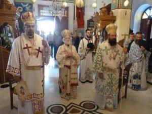 Πολυαρχιερατική Θεία Λειτουργία στη Μονή Αγκαράθου (ΦΩΤΟ)