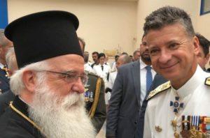 Ο Δημητριάδος Ιγνάτιος στην τελετή παράδοσης-παραλαβής του Λιμενικού Σώματος