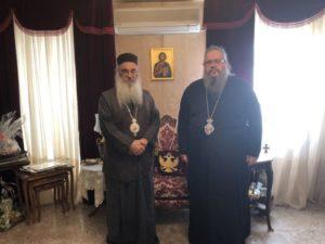 Ο Αρχιεπίσκοπος Μαδάβων στον Λαρίσης Ιερώνυμο