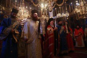 Πατριαρχική Θεία Λειτουργία στη Μονή Ξενοφώντος συλλειτουργούντων Ιεραρχών και Αγιορειτών Καθηγουμένων