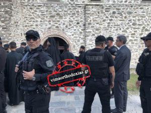 ΟΠΚΕ, Εκπαιδευμένα σκυλιά και 100 Αστυνομικοί φυλάνε τον Πατριάρχη στο Αγιον Ορος
