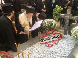 Τρισάγιο γονυπετής τέλεσε ο Πατριάρχης στον τάφο του γέροντα Ιωσήφ