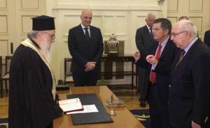 Ορκίστηκε ο νέος πολιτικός διοικητής του Αγίου Ορους (ΦΩΤΟ)