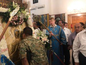 ΚΥΠΡΟΣ: Υποδοχή της Παναγίας Βηματάρισσας στην Ταμασό από το Βατοπαίδι