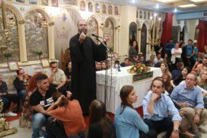 Κοσμοπλημμύρα στην ομιλία του π. Ανδρέα Κονάνου στον Αγιο Δημήτριο Αττικής