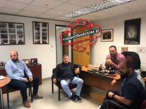 Οι εκκλησιαστικοί συντάκτες στο φιλόξενο γραφείο τύπου της Ιεράς Συνόδου